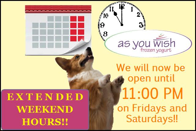 Extended Weekend Hours